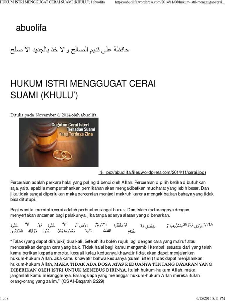 Hukum Istri Menggugat Cerai Suami d382fb4249