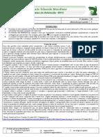 Exame Portugues II 2013