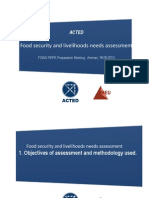 Food Security and Livelihoods Needs Assessment