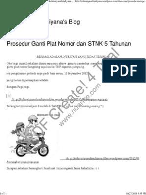 Ganti Plat Nomor Motor Tanpa Bpkb 2018