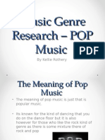 Music Genre Research – POP Music