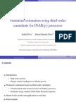 Parameter estimation using third-order cumulants for INAR(p) processes