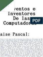 Inventos e Inventores de Las Computadoras