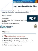 Social Inspections Based on Risk Profiles