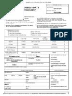 Member's Data Form (Mdf)