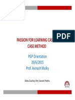 Case Method-PGP Orientation 20 Jun 2015