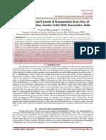 Geochemistry and Genesis of Kammatturu Iron Ores of Devagiri Formation, Sandur Schist Belt, Karnataka, India