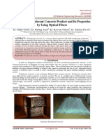A Study on Translucent Concrete Product and Its Properties by Using Optical Fibers