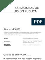 Sistema Nacional de Inversion Publica Intro