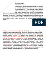 Ejemplos de Antecedente para tesis