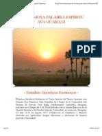 La Hermosa Palabra Espíritu Ava Guarani Estudios Gnósticos