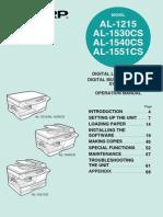 manuales impresoras sharp 1215_1530_1540_1551