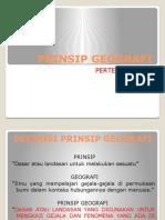 Prinsip Geografi Presentasi