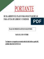 Anuncio Abierto Plazo Becas CAST