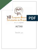 Actas XII Congreso Nac de Estud Arqueología - Tuc 2011