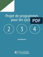 Contenus Programmes Cycles 2, 3 Et 4