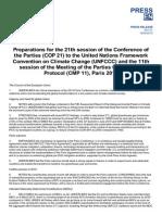 EU Position for COP21