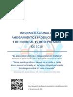 AHOGAMIENTOS infografia hasta 15 de septiembre 2015