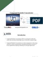 Compound Parabolic Concentrator (Cpc)