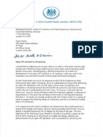 Letter from the Economic Secretary re Open API standard in UK banking