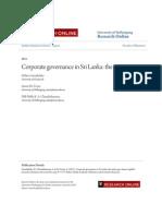 Corporate governance in Sri Lanka