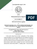 State of Texas v. Treeline Partners, Ltd., No. 14-14-00462-CV (Tex. App. Aug. 27, 2015)