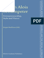 Entrepreneurship Style and Vision the European Heritage in Economics and the Social Sciences