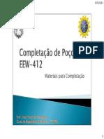 Completação de Poços - Materiais Usados