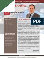 Bilan première année de mandat au Parlement européen d'Emmanuel Maurel