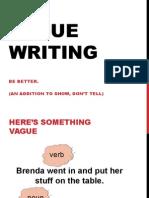vague writing