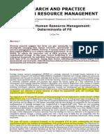 SHRM Determinants of Fit Study