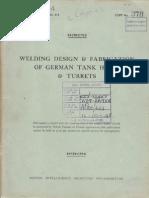BIOS_Final Report Welding Design of German Tank Hulls and Turrets - 1948