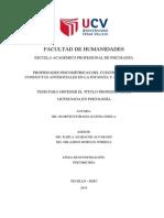 PROPIEDADES PSICOMÉTRICAS DEL CUESTIONARIO DE CONDUCTAS ANTISOCIALES EN LA INFANCIA Y ADOLESCENCIA