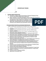 Spesifikasi Teknis Relokasi Pasar Johar