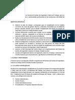 TDR Informativo BENCENO