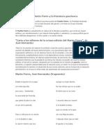 Introducción Al Martín Fierro y La Literatura Gauchesca