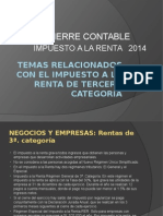 Impuesto a La Renta Cierre 2014