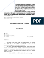 The Chomsky Nomination