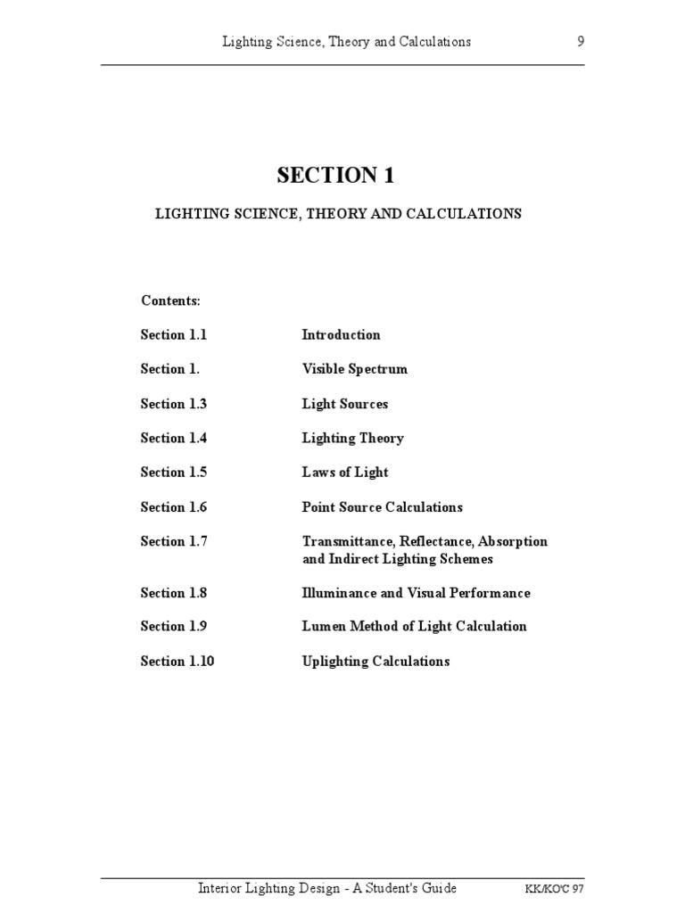 Lighting Calcs Electromagnetic Spectrum Lighting