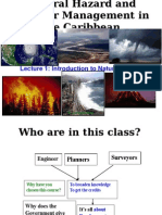 Lecture 1 Introduction to Natural Hazards