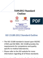ISO 15189-2012 outline