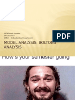 Boltons Analysis