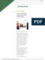 StrongLoop Creating Desktop Applications With Node-webkit