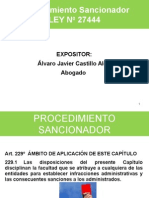 Procedimiento Sancionadprocedimiento sancionador segun la ley 27444 en Municipalidadesor Segun La Ley 27444 en Municipalidades