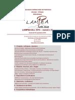 LAMPEA-Doc 2015 - numéro 25 / Vendredi 18 septembre 2015