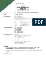 Syllabus for Immunology