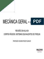 Mecânica Geral - Eng. Civil - Introdução aos conceitos de força e momento