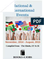 Events of National & International Importance