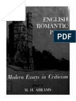 M. H. Abrams--English Romantic Poets Modern Essays in Criticism