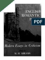 M. H. Abrams--English Romantic Poets Modern Essays in Criticism